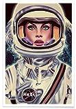 "JUNIQE® Astronauten Poster 60x90cm - Design ""Le"