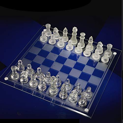 SKLLA Crystal Chess, Student Beginner Tragbares Schachspiel für Erwachsene (3 Modelle),1