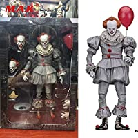 18cm Pvc Anime Figure Stephen King's It Evil Joker The Clown Pennywise Figure Model Toys 2017 Horror For Fans Collectible Gifts