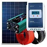 PlusEnergy Kit Solar Fotovoltaico 750W Autoconsumo Completo | Inversor Solar + Regulador Solar + Panel Solar