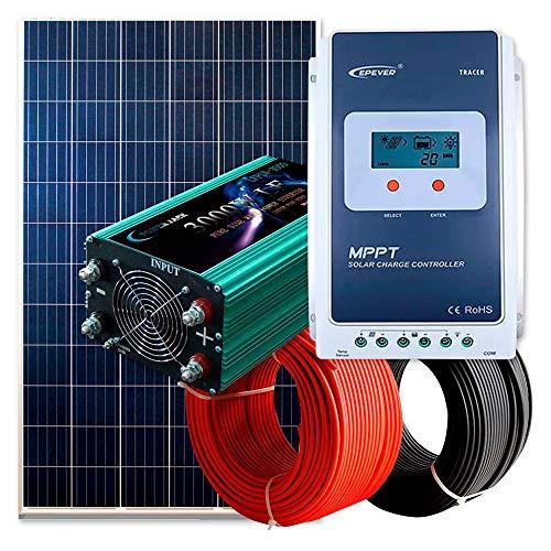 Kit Solar Fotovoltaico 750W Autoconsumo Completo | Inversor Solar + Regulador Solar + Panel Solar