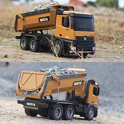 RC Auto kaufen Baufahrzeug Bild 5: s-idee® S1573 Rc Dump Truck 1:14 LKW 10 Kanal Kipplader Huina 1573*