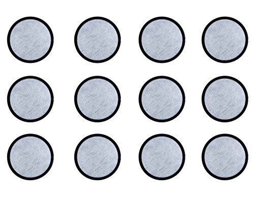 K&J 12-Pack of Compatible Mr. Coffee Water Filter Discs - Fits Most Brewers - Replacement Charcoal Water Filter Discs for Mr Coffee Coffee Brewers - Better Than OEM!