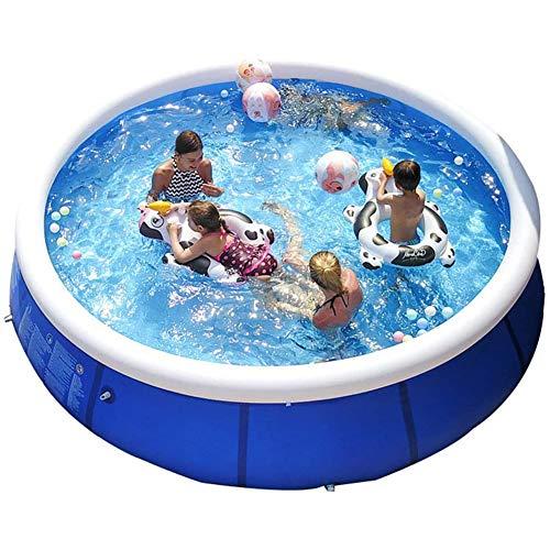 FSGD Familie Aufblasbarer Pool, Runder Aufblasbarer Pool, Passend Für Kinder Erwachsene, Garten und Outdoor, leicht Aufbaubar,240CM*76CM