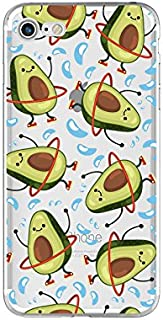 iPhone 8 Case/iPhone 7 Case(4.7inch), Blingy's New Fun Fruits Series Avocado Style Transparent Clear Flexible Soft TPU Rubber Case for iPhone 8 and iPhone 7 (Dancing Avocados)