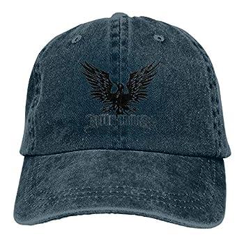Unisex Mens Womens 3D Printing Funny Alter Bridge Logo Black Bird Baseball Cap for Women Cotton Adjustable Washed Distressed Dad Hat Vintage Sun Hat for Men,Caps for Women Sports Navy
