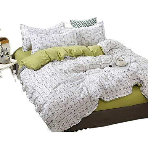 DYXYH Bettdecke Bettwäsche Sets Weiche Relax Mädchen Junge Kind Erwachsene Bettwäsche 4 Stücke Bettbezug Kissenbezug Bettlaken (Size : 2.0m)