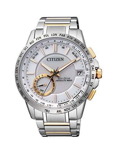 Citizen Herren-Armbanduhr Satellite Wave Analog Quarz Edelstahl CC3004-53A
