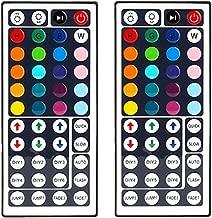 44 Key RGB LED Strip Light Remote Controller Wireless Dimmer IR Remote Control, for SMD 5050 3528 2835 RGB LED Light Strip - 2 Pack