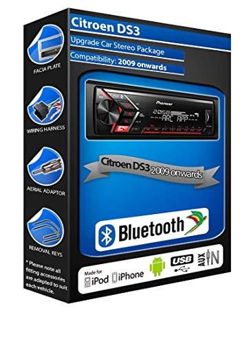 DS3 autoradio Pioneer MVH-S300BT stereo Bluetooth vivavoce, USB AUX (ricondizionato)