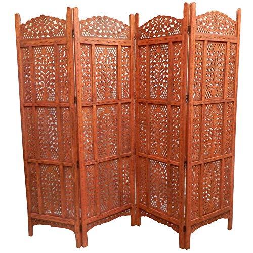 Paravent Rajasthan 200x182cm Holz Indische Trennwand Raumteiler Möbel Wohnzimmer