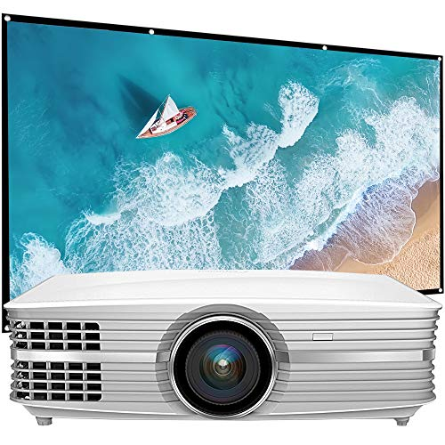 Optoma UHD60 4K Ultra High Definition Home Theater Video Projector (Renewed) Bundle with Minolta 120-Inch Home Theater Projector Screen 16:9 Indoor Outdoor