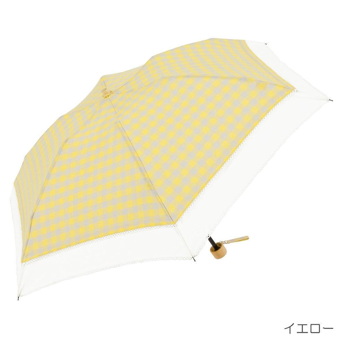神経障害わずかに八百屋晴雨兼用 レディース 折りたたみ傘 おしゃれな ギンガムチェック柄 47cm UVカット