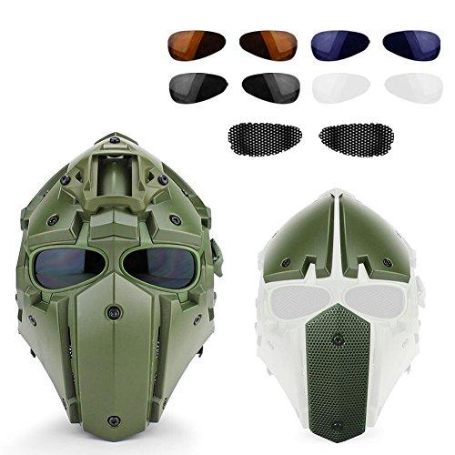 Kayheng Full-Covered taktischen Outdoor Motorrad Helm mit Maske Schutzbrille für Jagd Paintball Military Cosplay Movie Prop
