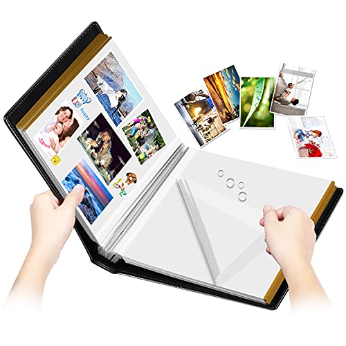 Photo Album Self-Adhesive  100 Pages Sticky Page  Leather Cover  Magnetic Scrapbook Family Albums for Christmas Gifts  Birthday Wedding Memory Photo Book 4X6  5X7  6X8 8X10 Big Black