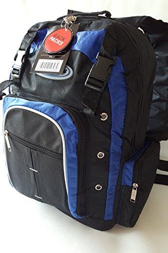Sac à dos de snowboard ski de vélo de trekking-bleu - 20 l 785 g + housse anti-pluie noir/bleu