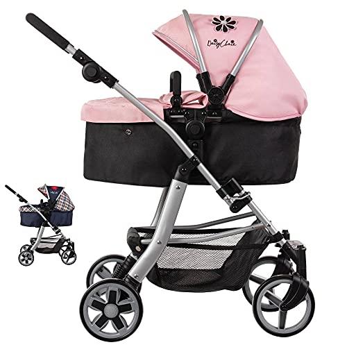 Daisy Chain Connect-5-in-1-Puppenwagen – Empfohlen für Kinder zwischen 4 und 8 Jahren. (Classic Pink)