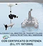 Elektromotor 46lbs lbs für Boot Schlauchboot mit Elica A Drei Flügel Weiß * 46lbsmot.Weiß *