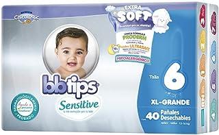 BBtips Sensitive Pañales, Talla XX Grande/6, 160 Pañales