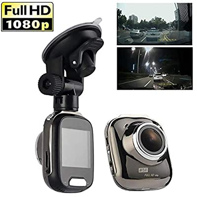 "SPRIS CHEZAI Car Dash Cam 1080P Hidden Full HD Night Vision 24-Hour Surveillance Car Camera for Cars 170° Wide Angle WDR with 1.5"" LCD Display and G-Sensor by SPRIS"