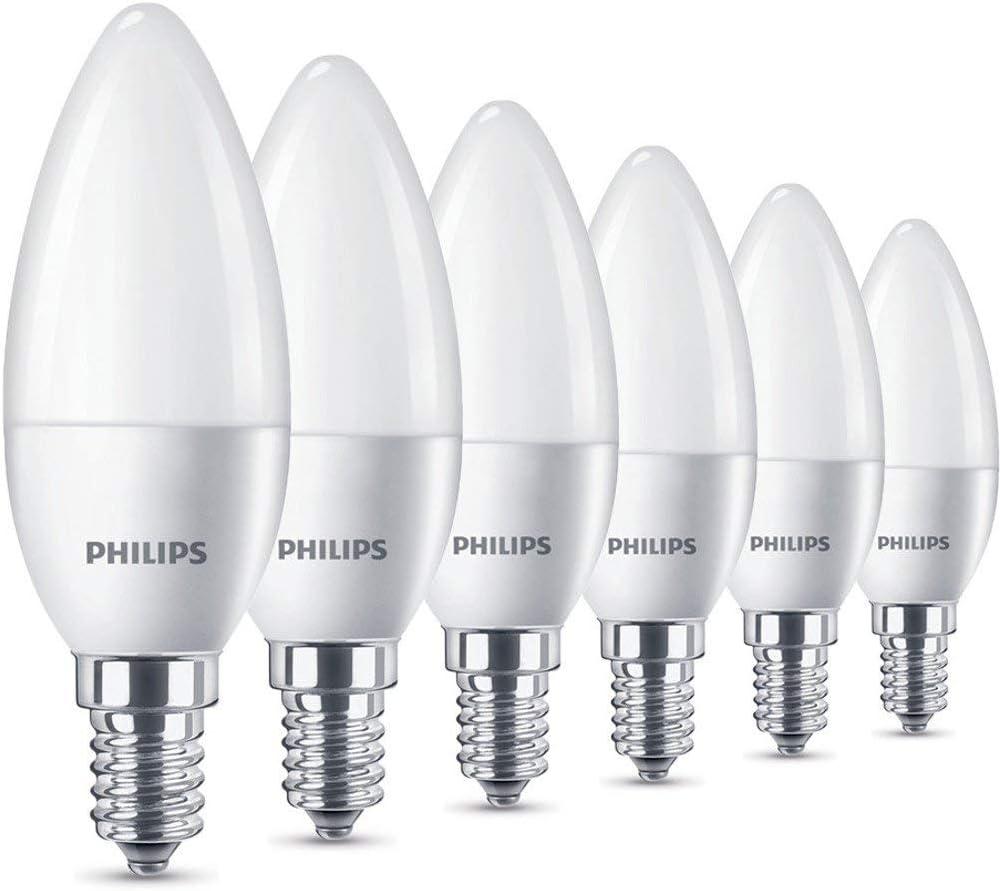 Philips LED Lampe 9,9 W ersetzt 9 W, E9, warmweiß 9K, 9 Lumen, 9er  Pack