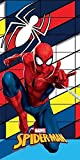 DP Spiderman - Toalla de playa (100% algodón, 70 x 140 cm)