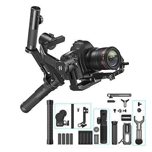 FeiyuTech AK4500 Camera Stabilizer Handheld Gimbal for DSRL Mirrorless Camera Sony a6400/a6300/a6500/a7II/a6000/a7SII//80D/6D Mark II/M50/200D/Nikon/Panasonic GH4/GH5 (Standard Version,Follow Focus)