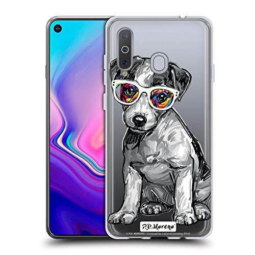 Head Hülle Designs Offizielle P.D. Moreno Jack Russell Schwarze Und Weisse H&e Soft Gel Handyhülle Hülle Huelle kompatibel mit Samsung Galaxy A8s (2018)