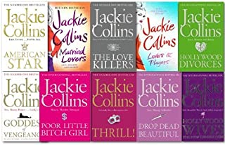 Jackie Collins Collection 10 Books Set Lovers and Players, Drop Dead Beautiful, Married Lovers, Goddess of Vengeance, Hollywood Divorces, Poor Little Bitch Girl, Hollywood Wives, Thrill! ,The Love Killers, American Star
