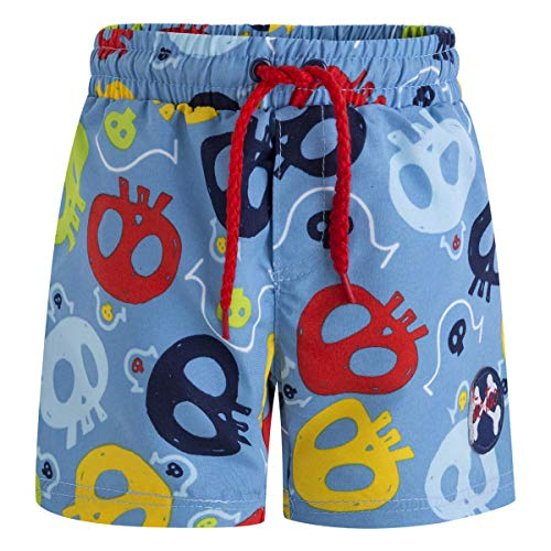 Tuc Tuc Bermuda BAÑO Estampada NIÑO Pirates Bañador, Azul (Azul 16), 3 años (Tamaño del Fabricante:3A) para Niños