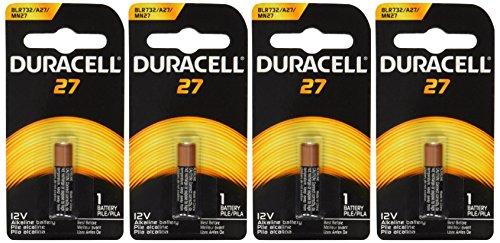 Duracell MN27BPK Watch/Electronic/Keyless Entry Battery, 12 Volt Alkaline X 4 Batteries