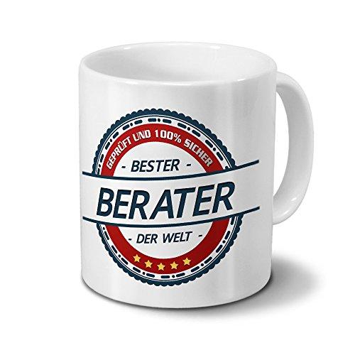 printplanet Tasse mit Beruf Berater - Motiv Berufe - Kaffeebecher, Mug, Becher, Kaffeetasse - Farbe Weiß