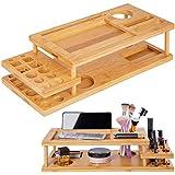 ONVAYA® Organizador para Maquillaje y Maquillaje | Organizador de cosméticos de Madera de bambú |...