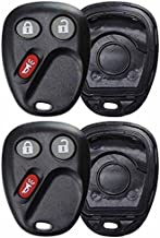 KeylessOption Keyless Entry Remote Car Key Fob Alarm Cover Shell Case Button Pad Repair For Chevy GMC Cadillac (Pack of 2)