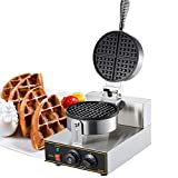 Commercial Belgian Double Waffle Maker Electric Egg Cake Oven Puff 110V Bread Maker Stainless Steel...