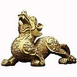 LINGS PiXiu/PiYao Estatuas del guardián de Bronce Puro, decoración China de Feng Shui para el hogar ...