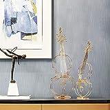 DAMAI STORE Moderna Minimalista Violín de Oro Adornos hogar Creativo Salón Comedor Dormitorio de Lujo del Hotel Clubes Cafe Luz Decoración