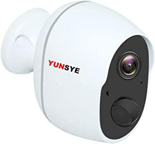Wireless Security Camera Outdoor with 5000mAh Rechargeable Battery, 1080P YUNSYE CCTV WIFI Camera Surveillance IP Camera H...
