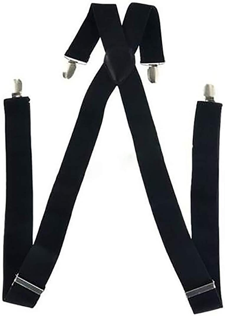 Airlove Suspenders for Men, with Heavy Duty Clip Wide X-Back for Work