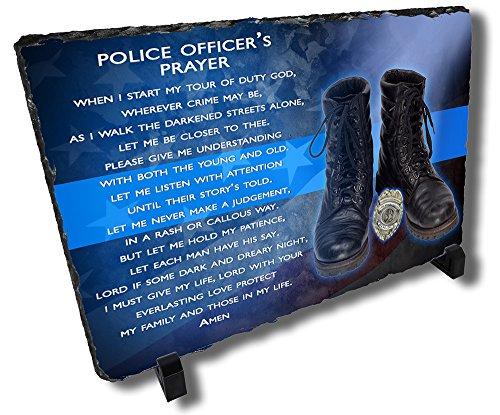 Redeye Laserworks Police Officer's Prayer Stone Plaque - Personalized