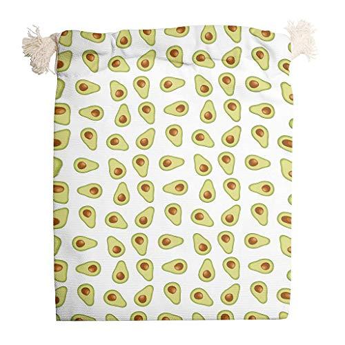 O3XEQ-8 6er-Pack Avocado Babys Drawstring Canvas Kordelzug Hochzeit Wiederverwendbar Candy Tasche Fit Thanksgiving Hochzeit Geschenke Wrap - Lustig pur Thema Drucken white12 12 * 18cm