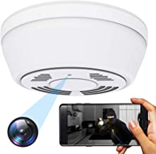 $119 » Hidden Camera WiFi Dummy Smoke Detector,FUVISION Spy Camera Wireless Hidden,Nanny Cams Wireless with Cell Phone App,Live View,Night Vision,Motion Detection,Bottom View Nanny Camera for Home and Office