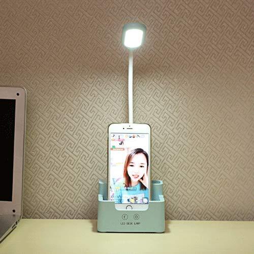 GJFDCP Lámpara de Escritorio multifunción LED Creativa Fuente de alimentación de Emergencia portalápices protección para los Ojos lámpara de Escritorio Dormitorio Estudiante lámpara de Escritorio USB