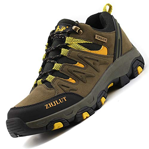 K&T Herren Damen Wanderschuhe Sports Outdoor Trekking Schuhe Hiking Sneaker Leicht Atmungsaktiv Bequem Anti-Rutsch Unisex