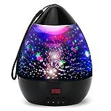 Projektor Lampe LED Grandbeing Nachtlicht Kinder 360° Drehen 8 Beleuchtungsmodi und Automatisch Abschlaten Sternenhimmel Projektor Baby Nachtlicht für Geburtstag Party Zimmer Weihnachten Hochzeit