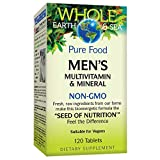 Natural Factors, Whole Earth & Sea, Men's Multivitamin & Mineral, Whole Food Supplement, Vegan, 120 Tablets (60 Servings)