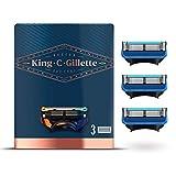 King C. Gillette - Recambios de cuchillas, afeitado y contorno, 3 recambios