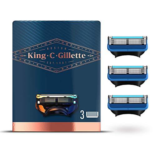King C. Gillette Cuchillas de Afeitar Hombre para Máquina de Afeitar con...