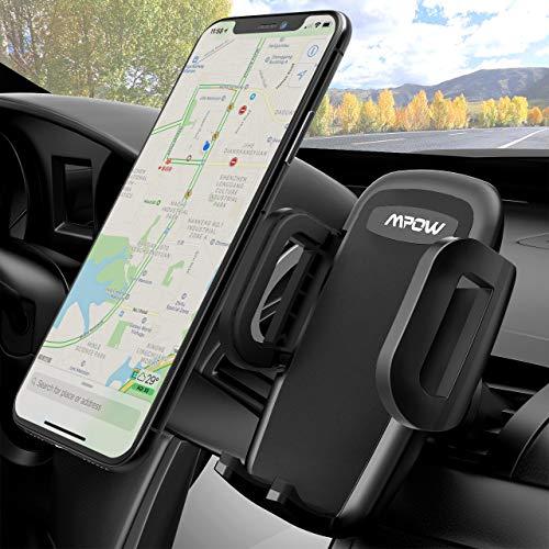 Mpow Soporte Móvil Coche, 360 Grados Rotación Soporte Móvil Coche para Rejillas del Aire de Coche para iPhoneXs Max/Xs/X/8/8Plus/7/6, Galaxy S9/S8/S7, Xiaomi, Smartphone y GPS Dispositivo