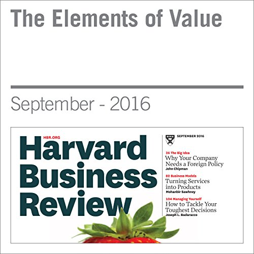 The Elements of Value cover art
